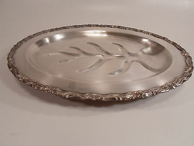 Vintage FB Rogers Silver Co. Footed Serving Tray/Platter Trademark 1883 leaf