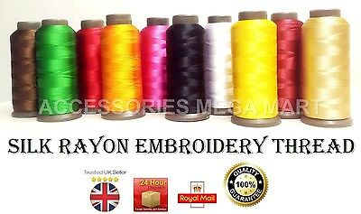 Large Silk Rayon Viscose Embroidery Thread basic assorted spools 2500m each