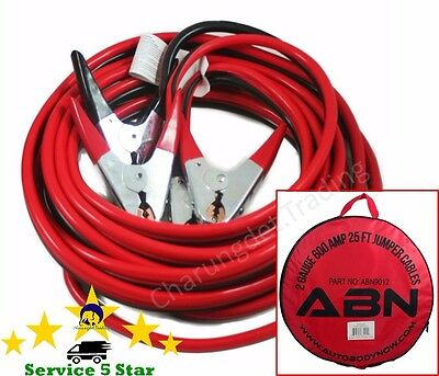 Premium Heavy Duty 25 FT 2 Gauge Booster Jumper Cables Commercial NEW