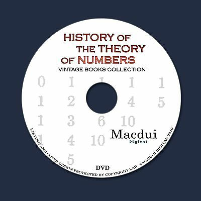 History of the theory of numbers Vintage Ebooks 3 PDF 1 DVD Mathematics Analysis