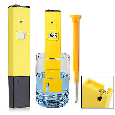 Electric Pocket Digital Ph Meter Tester Hydroponics Pen Aquarium Pool Water Test
