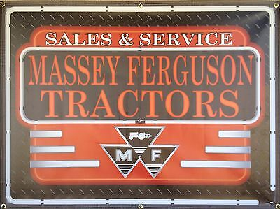 Massey Ferguson Tractors Dealer Neon Style Banner Sign Art New Design 4' X 3'