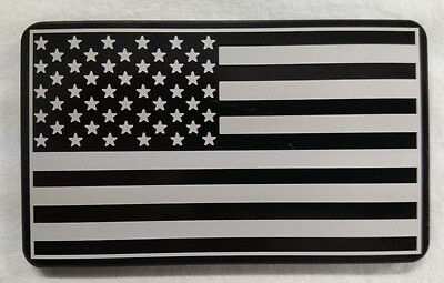 American Flag Billet Aluminum Hitch Cover, 3x5  Made In USA