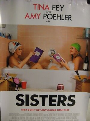 """Sisters Original Movie Poster Double Sided 27"""" x 40"""" Tina Fey Amy Poehler"""