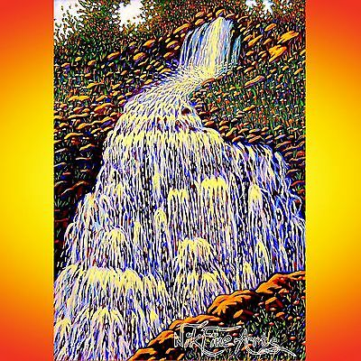 Original Painting Large Art Collector Investment Wall Deco Waterfall Landscape