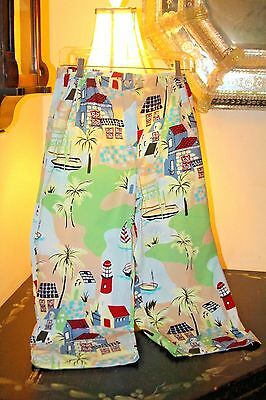 Colorful Print  Super Soft Cotton Cropped  Pajama Lounge Pants  / M