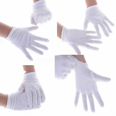 Whosale White Coin Jewelry Silver Inspection Cotton Lisle Gloves