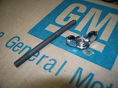 NOS carb stud & chrome wingnut Chevy Corvette Chevelle Camaro 64-80