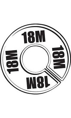 Count of 50 New  18M Round Size Dividers Black On White 28-18M