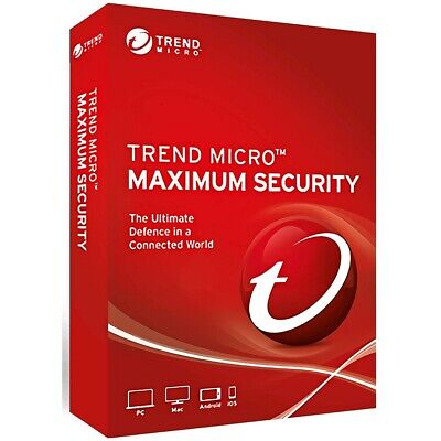 Trend Micro Maximum Security 12/15 -2018/2019-3Year 3Device(PC/MAC/ANDROID/iOS)