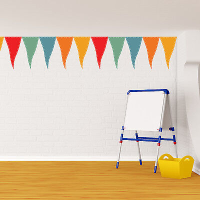 Party Flags Nursery Wall Stickers Decoration Mural Family Decal 17cm x 150cm