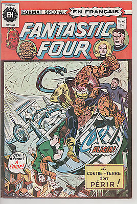 FANTASTIC FOUR #62 french comic français EDITIONS HERITAGE