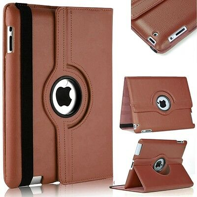 New Leather 360 Degree Rotating Smart Stand Case Cover For APPLE iPad  2,3,4