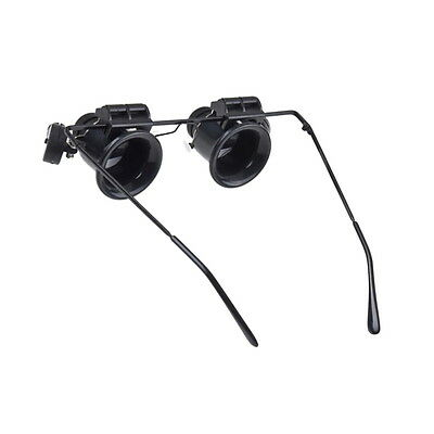 Glasses Type 20X Watch Repair Magnifier with LED Light EV