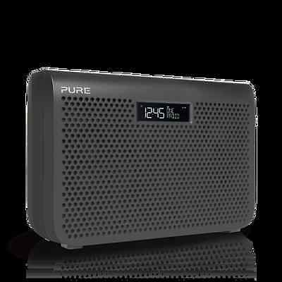 PURE One Midi Series 3 Portable DAB+ Clock Radio Graphite Mains & battery
