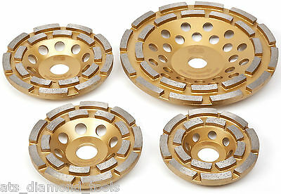 Double Row Professional Diamond Grinding Cup Wheels Concrete Screed 22.23 & M14
