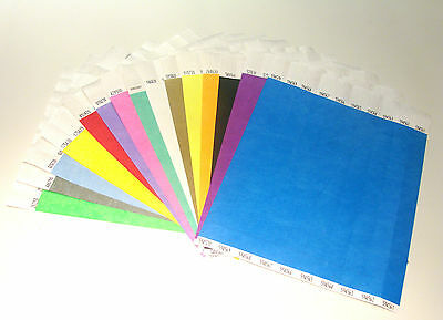 500 Plain Tyvek Wristbands, Paper Like, Security, Festivals, Ideal for Parties