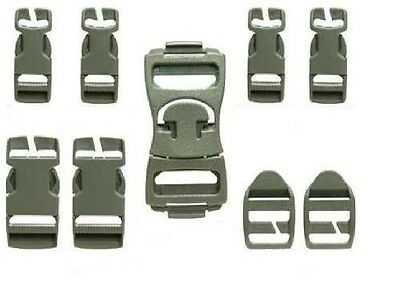 Army Foliage Green Acu Molle Repair Buckle Set For Rucksack & Assault Pack New