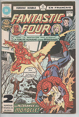 FANTASTIC FOUR #97/98 French Comic Français EDITIONS HERITAGE