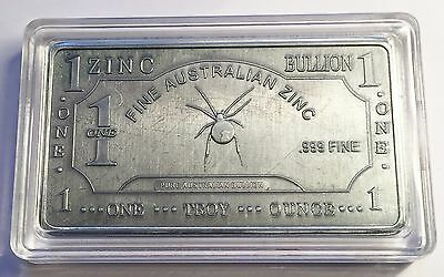 "1 Oz ""RB Spider"" 999 Solid Zinc Ingot  50mm x 28mm x 3 mm Bargain Clearance Sale"
