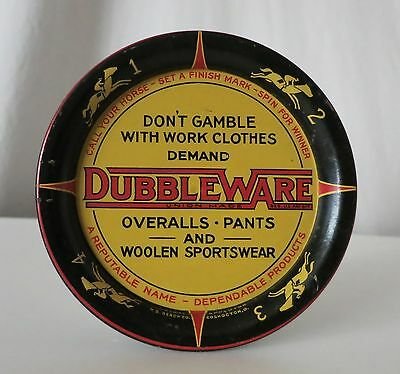 Dubble Ware Clothing Vintage Spinning Tip Tray With Race Horse Game