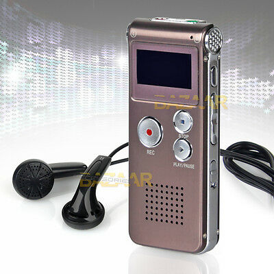 16GB Rechargeable Digital Audio Voice Recorder Telephone Dictaphone MP3 Player