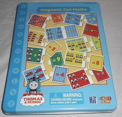 Thomas & Friends Magnetic Fun Maths 3 Magnetic Sheets 36 Pieces & Metal Case
