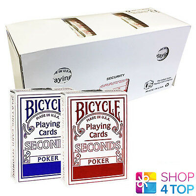 12 Decks Bicycle Seconds Standard Index Playing Cards Sealed Box Case Uspcc New