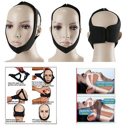 Stop Snoring Chin Strap Snore Belt Anti Apnea Jaw Solution Sleep Adjust Support