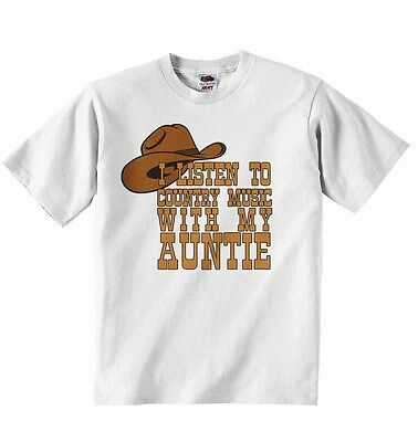I Listen to Country Music With My Aunt - Baby Tshirt Tees Clothing - Unisex