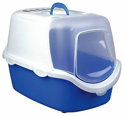 Trixie Vico Easy Clean Litter Tray With Dome 40x40x56cm Blue/White