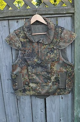 German Flecktarn Protective Flak Vest,Bundeswehr Issue, Size M or L Very Good