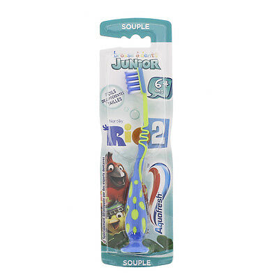 Aquafresh kids Brosse à dents Junior 6 ans et + SOUPLE