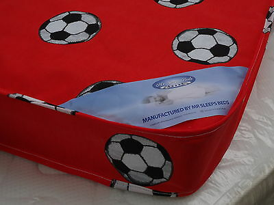 MEMORY FOAM WITH SPRINGS Red Fooball SINGLE MATTRESS SIZE 3FT 2FT6 OR SHORTY