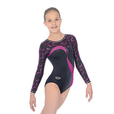 The Zone Vibe Jewel Long Sleeve Velour Gymnastics Leotard - Girls Sizes