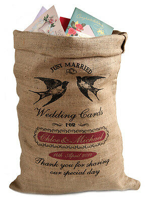 Personalised Wedding Post Box Sack, Card holder, Wishing Well, swallows design