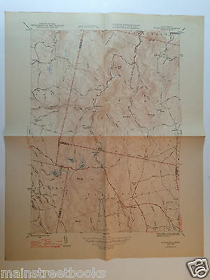 PLAINFIELD, MASS. Savoy MA HAWLEY CHARLEMONT WINDSOR USGS TOPOGRAPHICAL MAP 1948