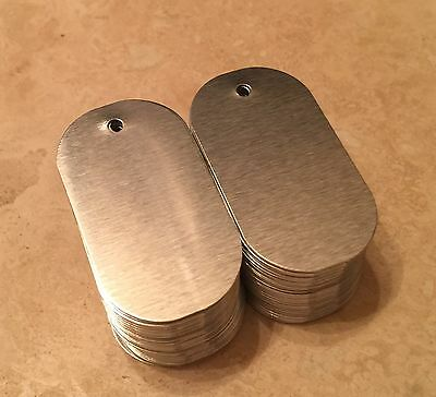 Brushed Aluminum Dye Sublimation Dog Tag Blanks - Lot of 100PCs