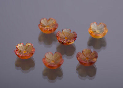 Citrine Flowers 8mm engraved Weight: je approx. 1,27 Ct 34)