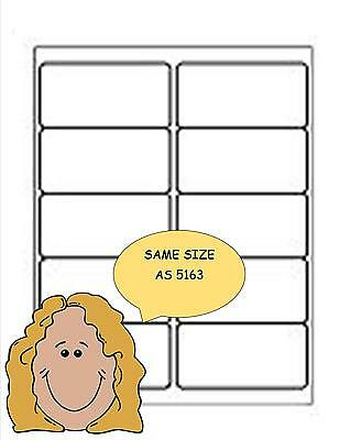 """500 COMPATIBLE TO AVERY 5163 2"""" x 4"""" SHIPPING/ADDRESS LABELS 10/SHEET 50 SHEETS"""
