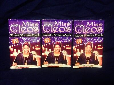 Miss Cleo's Tarot Cards Power Deck Psychic Fortune Telling Pack of 3 New Decks