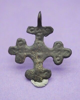 Viking period bronze decorated cross pendant 10th-12th century AD