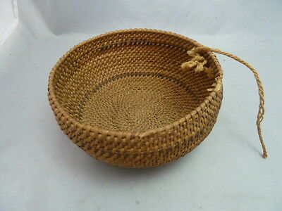 "Native American Weave Small Basket Bowl. Nice Design. Approx 2.5 - 3"" T & 5.5"" D"