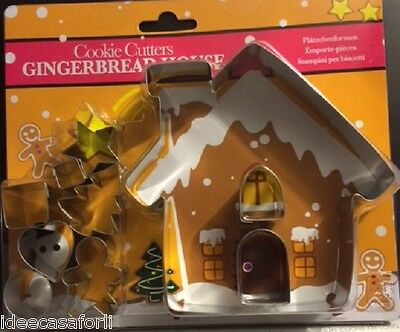 Taglia biscotti Gingerbread house Cookie Cutters 10 formine set.