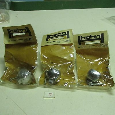 Pull Knobs (Lot Of 3) Square  Brass Chromium Plated Hahn