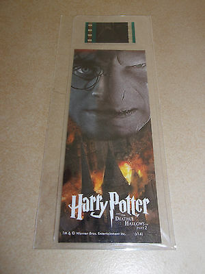 Harry Potter Film Cell Bookmark-Deathly Hallows-radcliffe-Lord Voldemort-fiennes