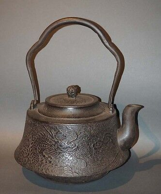 Large Japanese Tetsubin Iron Teapot SALE 30% OFF