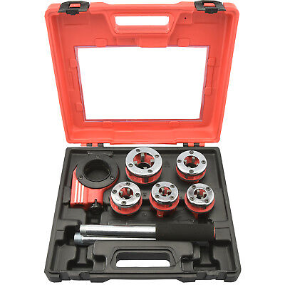 Pipe Threader | 9pc Heavy Duty Ratcheting Die Set for Plumbing DIY Plumber Tool