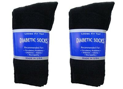 6 Pair Diabetic Crew Socks Cotton