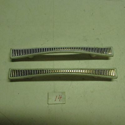 PULL HANDLES (lot of 2) HANDLES CLASSIC WHITE & BRONZE HAHN CLASSIC PULL used